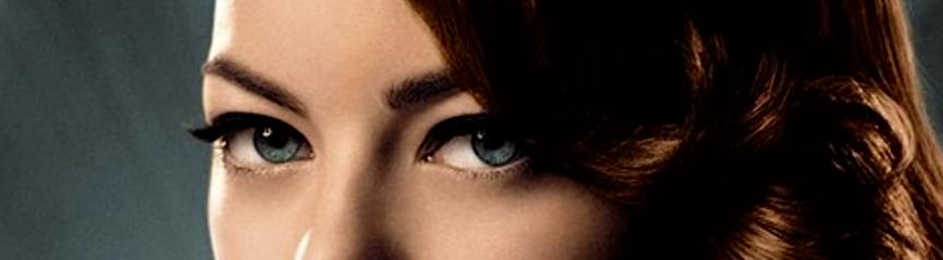 blue eyes on a woman, focused.