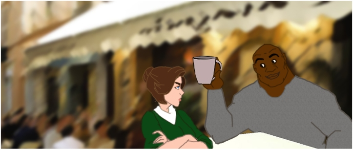 Bruiser Jenkins annoys Portia at her favourite Cafe.