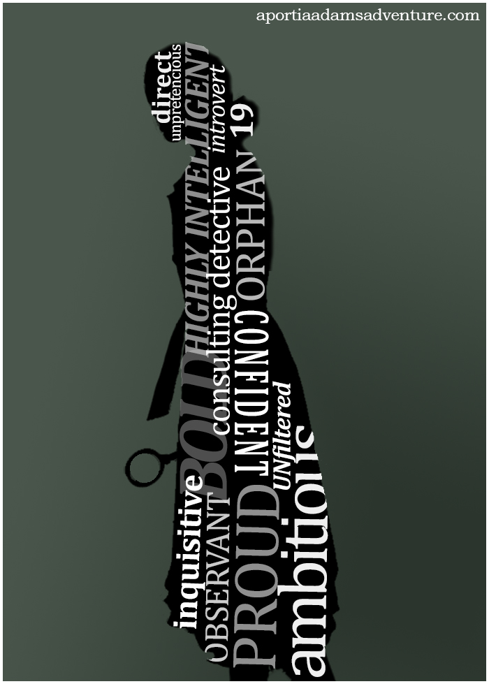 Silhouette with descriptive words