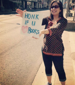 Outside BookCity at St. Clair & Yonge!